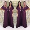 Long Party Dress 2020 Cheap Boho Deep V Neck Bridesmaid Formal Evening Gowns A Line Plus Size Maid of Honor