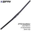 ZTTO XM MTB Bicycle Handlebar Black Handlebar 720mm 780mm 31.8mm Aluminum Alloy Flat Bar Straight Thick Tube 6 degree Backsweep