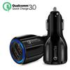 Fast Car Charger 5V 3.1A QC3.0 Quick Charge Dual USB Car Charger For iPhone 7 8 XS Max Samsung S9 S10 Plus With OPP Bag