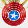 Finger Spinner Reduse Stress Relief Anxiety Toys Captain America Shield Spider Man Best Autism Fidgets Spinners Toys for Adults and Kids