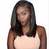 Hair Wigs For Black Women long straight hair 14inches Brazilian Virgin Simulation Human Hair Lace Front Wigs Glueless Short Bob Synthetic