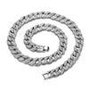 Color de la plata de la cadena-70cm