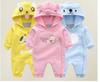 New baby clothes, outdoor clothes with hats, baby jumpsuits, baby crawling clothes, three colors, factory low-cost promotions