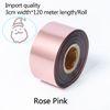 Rose Pink-três centímetros de largura * 120 metros
