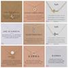 More than 100 styles alloy Dogeared Necklaces With Card Unicorn Heart Elephant Pearl Horse Pendant Necklace Clavicle Chain Pendant Chocker