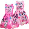 Summer Colorful Girls Lol Dress Dolls Girl Birthday Party Dresses Clothing baby Halloween Christmas Child Cosplay Costume Kids Clothes