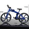Folding Mountain Bike Blue