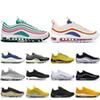 2019 Brand 97 Running Shoes Men Women Triple Black South Beach Pull Tab Silver Bullet 97s Designer Shoes Sport Sneakers 36-45