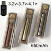 Brass Knuckles Battery VV Variable Voltage Vape Pen Batteries Preheat Preaheating 650mAh 510 Thread Battery For E Cigarette Cartirdges