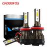 CROSSFOX Car Lights lampada H4 alta y baja LED Lamps H7 6000K H8 H9 H11 9006 HB4 HB3 9005 LED H1 12V Headlight Bulb 8000LM Light