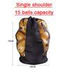 Single shoulder, 15 balls capacity