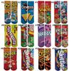 30cm 3D Socks Printed Cartoon Women Cheerleader Long Socks Girls Custom order Socks Adult Sports Stocking Multicolors Cartoon One Side Print