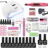 54 48 36W led lamp timer nail dryer 10 colors uv gel polish nail set uv gel polish with drill machine manicure tools