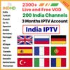 India Pakistan Subscription IPTV France Arabic IP TV Italia Turkish EX-YU Germany Portugal IPTV Account For Android Support Free Test