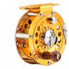 Quality HB800 Free Shipping 1PCS Fly Fishing Reel High Strength Metal Body Fly Reel Wooden Hnadle Fishing Reel Wheel