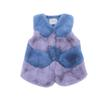 Baby Girls Fur Outerwear Vest 2019 New Winter Fashion Thicken Warm V-neck Striped Colorful Vest Children Costume Clothing Vw030