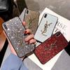 Luxury Designer Glitter Anti-Slip Phone Case Cover For iPhone XS XR X 8 7 6 Full Protection Back Case Cover