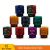 810 Snake Resin Drip Tips For TFV12 Prince TFV8 X BABY TFV8 Big Baby Tank 810 Atomizer Mouthpiece 810 Thread Resin