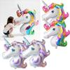 Supershape rainbow unicorn head foil balloon children birthday party decoration big rainbow unicorn balloons party supplies