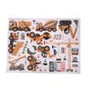 Building Construction Vehicle Cartoon Wall Sticker Build Your Future Crane Excavator Kids Boy Bedroom Decor Self-adhesive