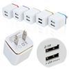 Top Quality 5V 2.1+1A Double USB AC Travel US Wall Charger Plug Dual Charger For Samsung Galaxy HTC Smart Phone Adapter 200pcs