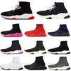 2020 Fashion designer sock shoes speed trainer casual sock boot Triple Black White Red Flat Runner Women Mens Sneakers 36-45