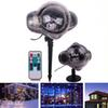 Edison2011 LED Stage Light Christmas New year Party Light Waterproof Moving Snow Laser Projector Lamps Snowflake Light Garden Lamp