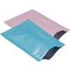 Glossy Pink Blue Self Sealable Zip Lock Bags Food Grade Aluminum Foil Packaging Bags Flat Coffee Powder Spices Storage Bag for Wedding Favor