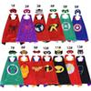 Superhero Capes for Kids Heroes Reversible Satin Capes and Masks for Dress Up Costumes 27in Double Layer Cartoon Cosplay Children Costumes