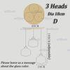Dia 18cm 3 Heads D