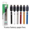 Caixa de papel de bateria de torção de vértice