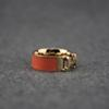 Orange Rings Women Designer Jewelry Luxury Woman Enamel Ring Charms Gold Rings 14k Gold Jewelry
