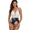 One Piece Swimsuits Knit Swimsuit S Floral Print Crochet Swimwear Designer Swimwear Beach Wear Bodysuit Panties Women Clothes 190568