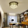 Modern crystal ceiling chandelier light flush mount smoky crystal chandeliers lighting round led ceiling lamps for living room bedroom