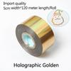 Голографические золото-5см ширина*120meter