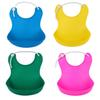 bib waterproof 4 Colors Waterproof Feeding Bibs Newborn Baby Food Saliva Pocket Silicone Bibs Burp Cloth Towel Baby Feeding Wear Apron