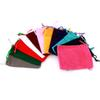 5pcs mini Velvet Drawstring Pouch Bags 5*7cm Jewelry display Wedding Holiday New Year Christmas Party Makeup Gift multi-color