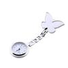 Pocket Medical Nurse Fob Watch Women Dress Watches Clip-on Pendant Hanging Quartz Clock Butterfly Shape relogio de bolso