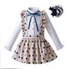 Pettigirl Autumn Dot Kids Clothing Set Long Sleeve Blouse With Khaki Skirt Children Clothing With Headwear G-DMCS107-B372