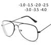 Retro Metal Cat Eye Frame Myopia Spectacles Glasses For Women And Men -1.0 -1.5 -2.0 -2.5 -3.0 -3.5 -4.0