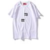 Suprême T shirts letter printing T-shirts Misplaced box logo men women couple short-sleeve mens fashion trend T shirts summer hot sell tees