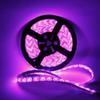 US stock 12V 5M SMD5050 300-LED RGB-IR44 Epoxy Waterproof LED Light Strip Set (72W White Lamp Plate)