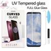 UV tempered glass screen For Samsung Galaxy S10 S9 S8 Plus Note 8 9 Iphone X XS MAX Huawei P30 pro Full Glue