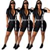 womens short sleeve rompers designer jumpsuits sexy slim playsuit fashion comfortable night wear elegant breathable jumpsuit