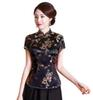 Shanghai Story Chinese cheongsam top traditional Chinese Women's faux Silk Satin Top china dragon and phoenix blouse Chinese Qipao Shirt