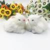 Simulation White Rabbits Stuffed Doll Mini Cute Car Home Furnishing Goods Desktop Decoration Festival Party Kids Gift