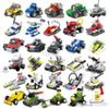 Mini puzzle small particles assembled military small blocks Aircraft tanks building block Children's toys kindergarten gifts educationa