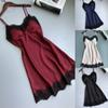 Backless Dress Home Spaghetti Strap Sexy Lace Thin Silk Women Sleeveless V Neck Summer Hot Solid Color Elegant Party Dress