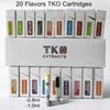 0.8ml TKO Cartridges Empty Vape Cartridge Packaging 1ml Ceramic TKO Extracts Carts Dab Pen Wax Vaporizer E Cigarette For 510 Thread Battery