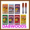 DABWOODS Carts 0.8ml 1.0ml TH205 Ceramic Coil Wood Drip Tip 510 Thick Oil Cartridge Vape Tank With 9 Flavors Packaging